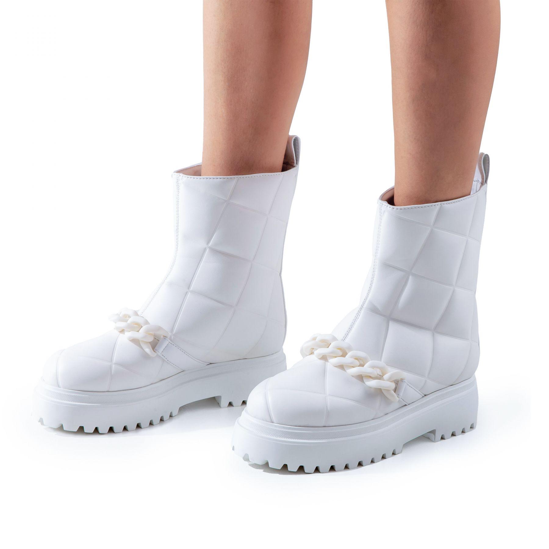 Ботинки Le Silla белые