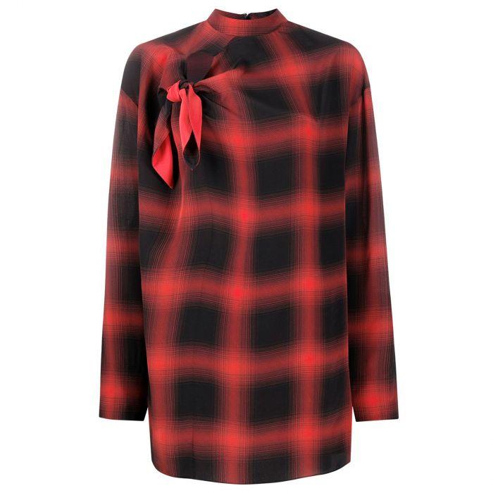 Блуза Stella McCartney Zadie черно-красная