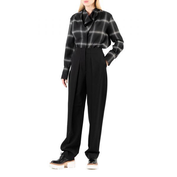 Блуза Stella McCartney Amabella черно-белая