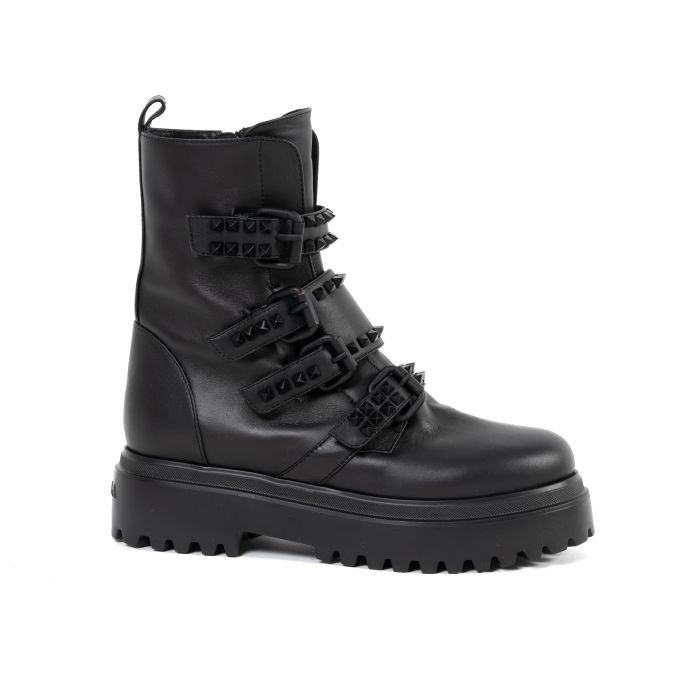 Ботинки флет Le Silla черные
