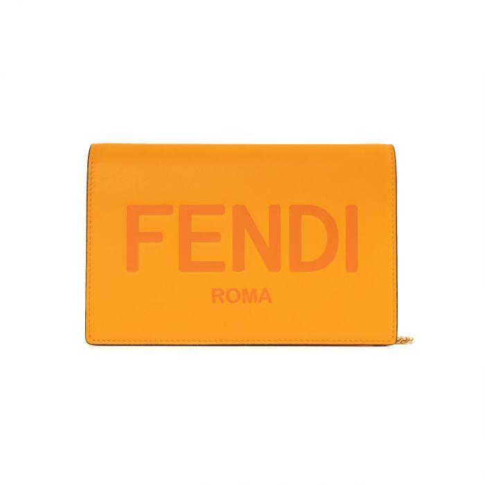 Портмоне Fendi оранжевое