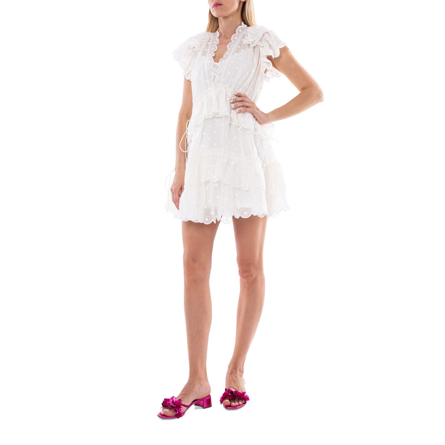 Платье Zimmermann Mae Dot белое