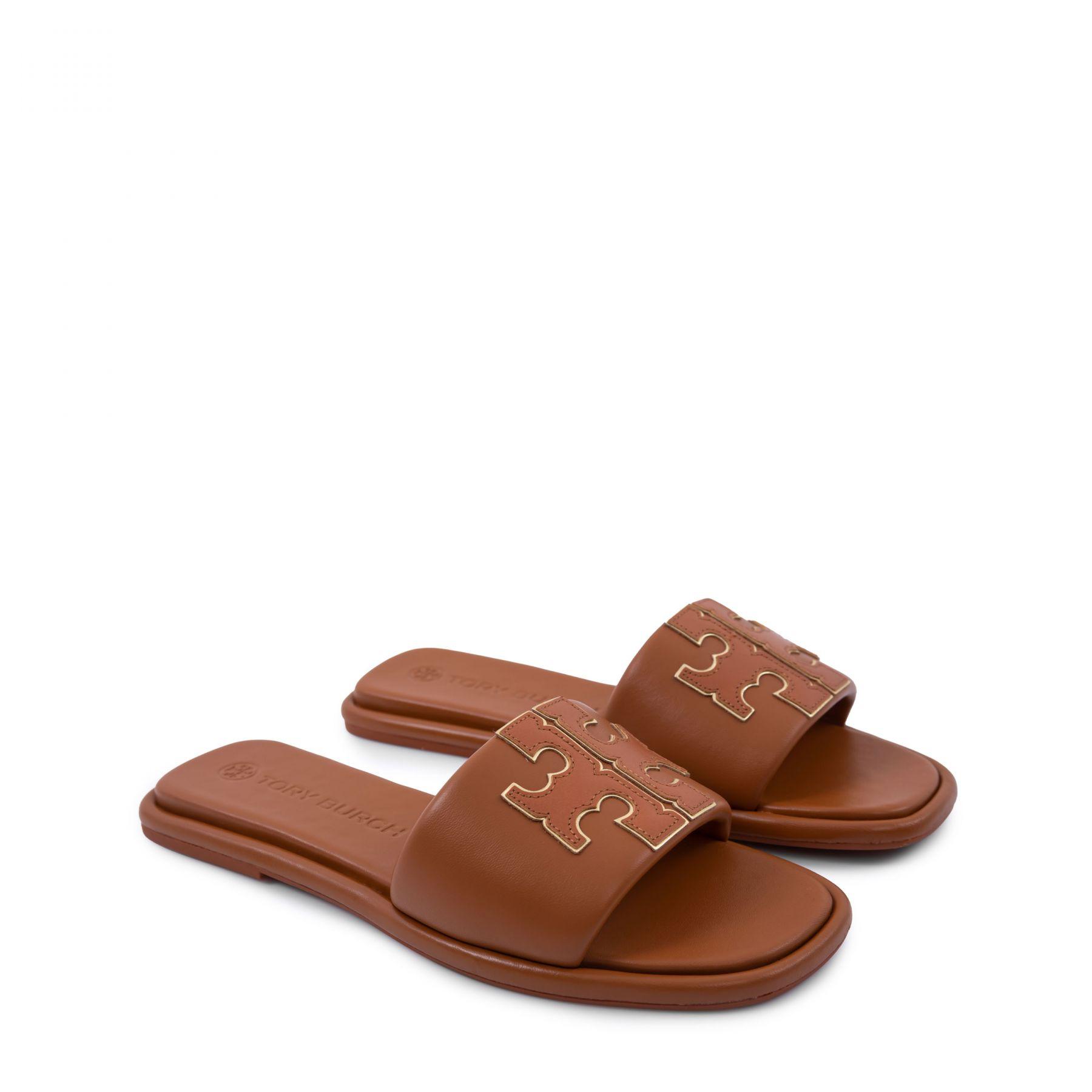 Сабо Tory Burch Ines Slide коричневые