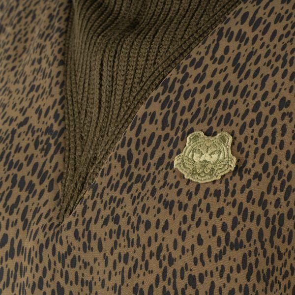 Платье длинное Kenzo Leopard хаки