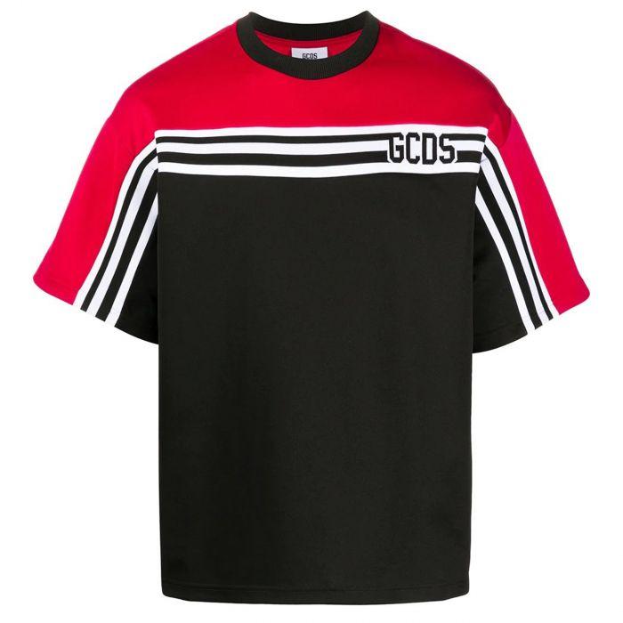 Футболка GCDS красно-черная
