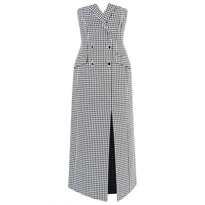 Платье David Koma черно-белое