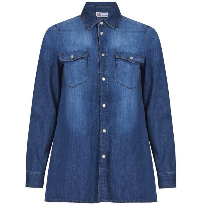Рубашка с длинными рукавами Red Valentino синяя