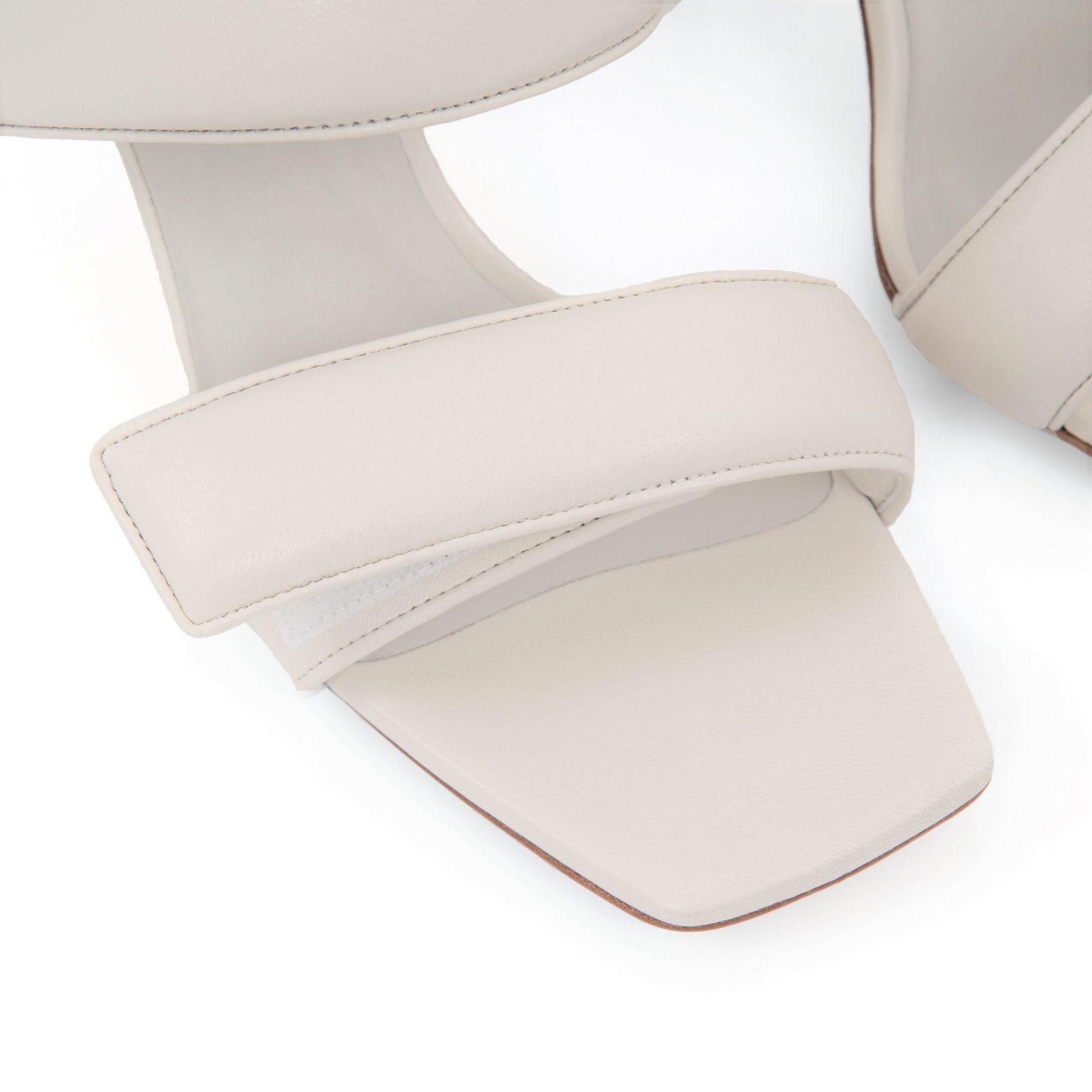 Мюли Gia Perni 03 бело-серые
