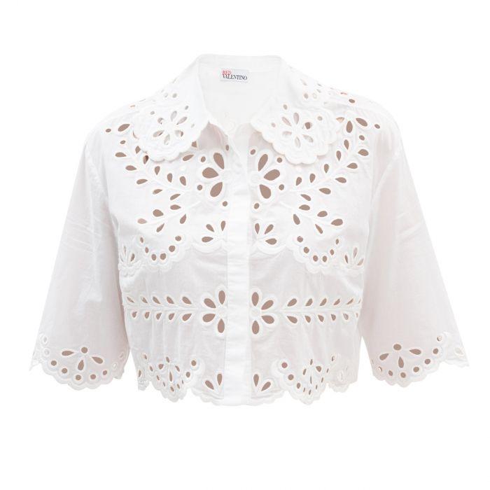 Рубашка с короткими рукавами Red Valentino белая