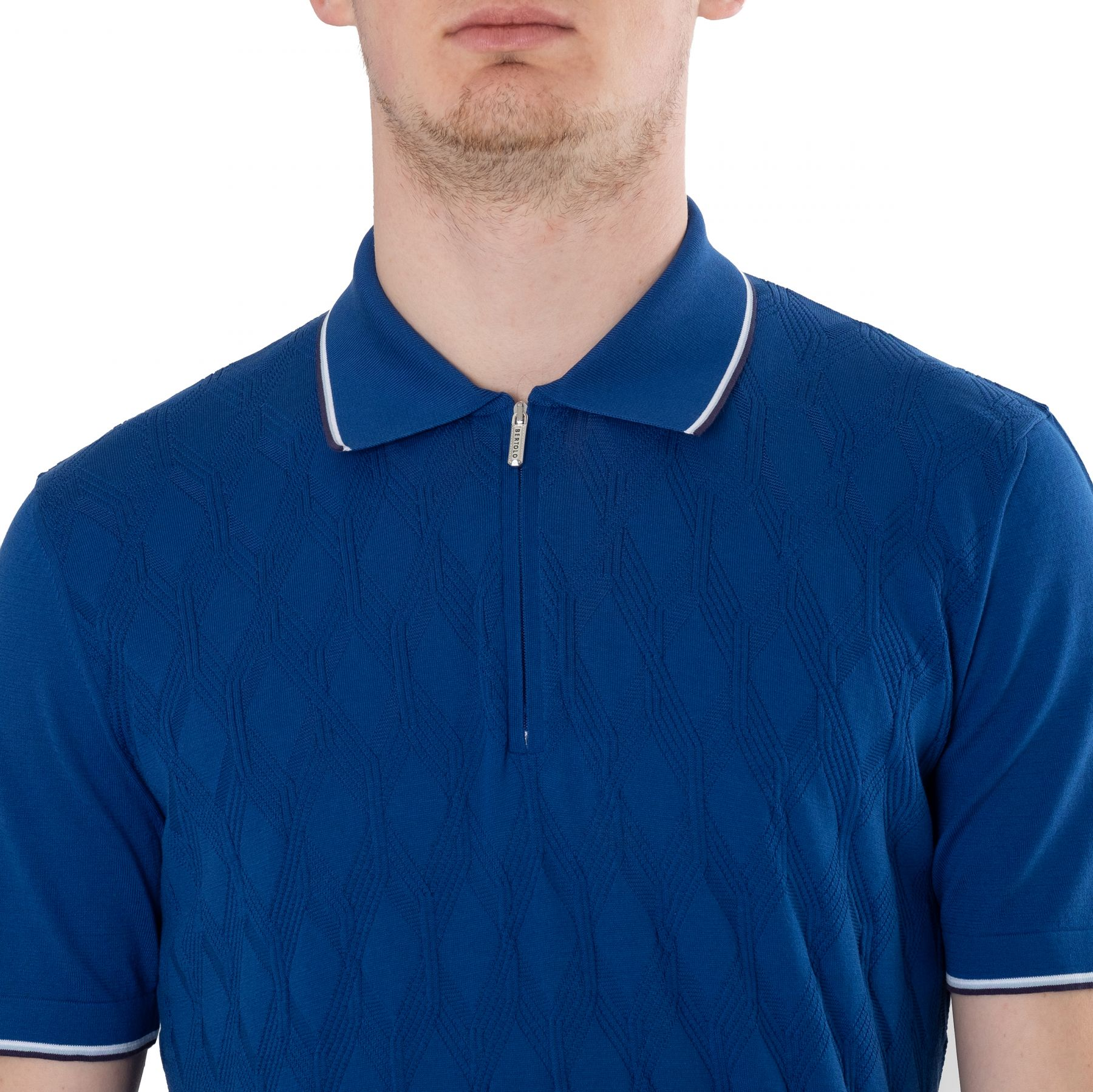 Поло Bertolo Cashmere синее