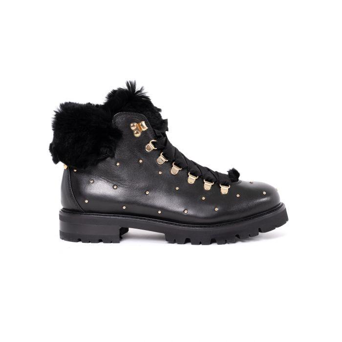 Ботинки флет на меху AGL черные
