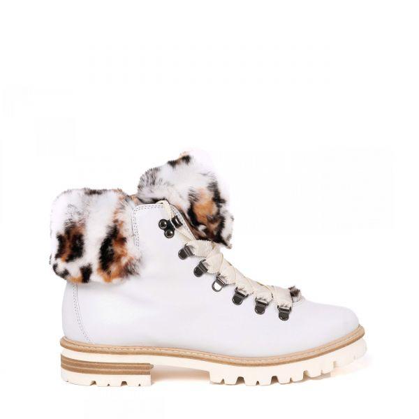 Ботинки флет на меху AGL белые
