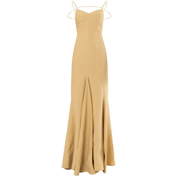Платье Jacquemus La robe Camargue песочное