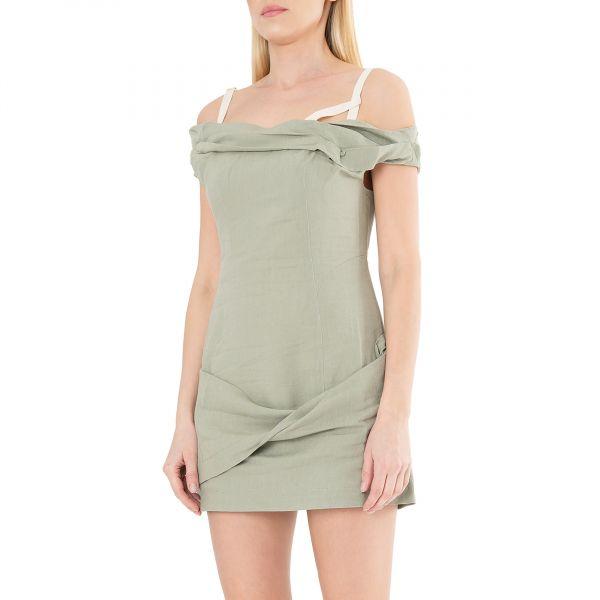 Платье Jacquemus La robe Drap хаки
