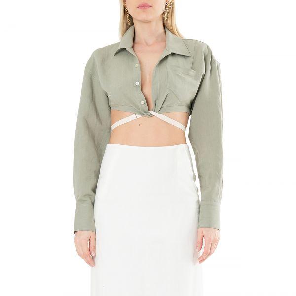Рубашка длин.рук. Jacquemus La chemise Laurier хаки
