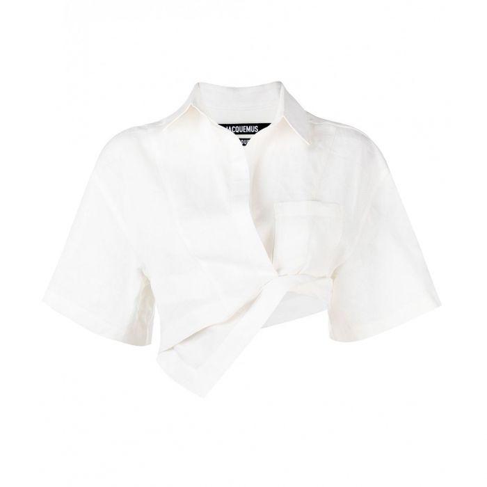 Рубашка кор.рук. Jacquemus La chemise Capr белая