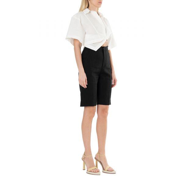 Рубашка с короткими рукавами Jacquemus La chemise Capr белая