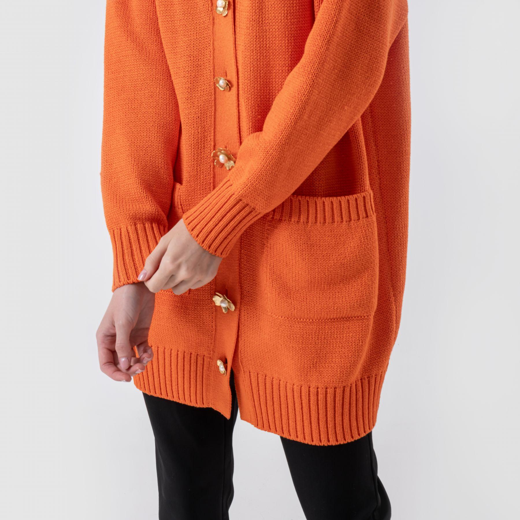 Кардиган Oscar de la Renta оранжевый