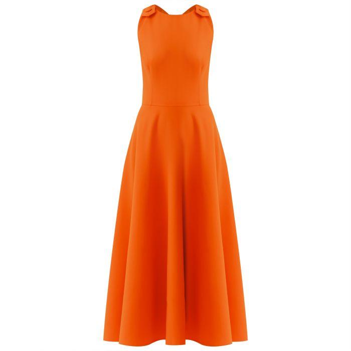 Платье Oscar de la Renta оранжевое