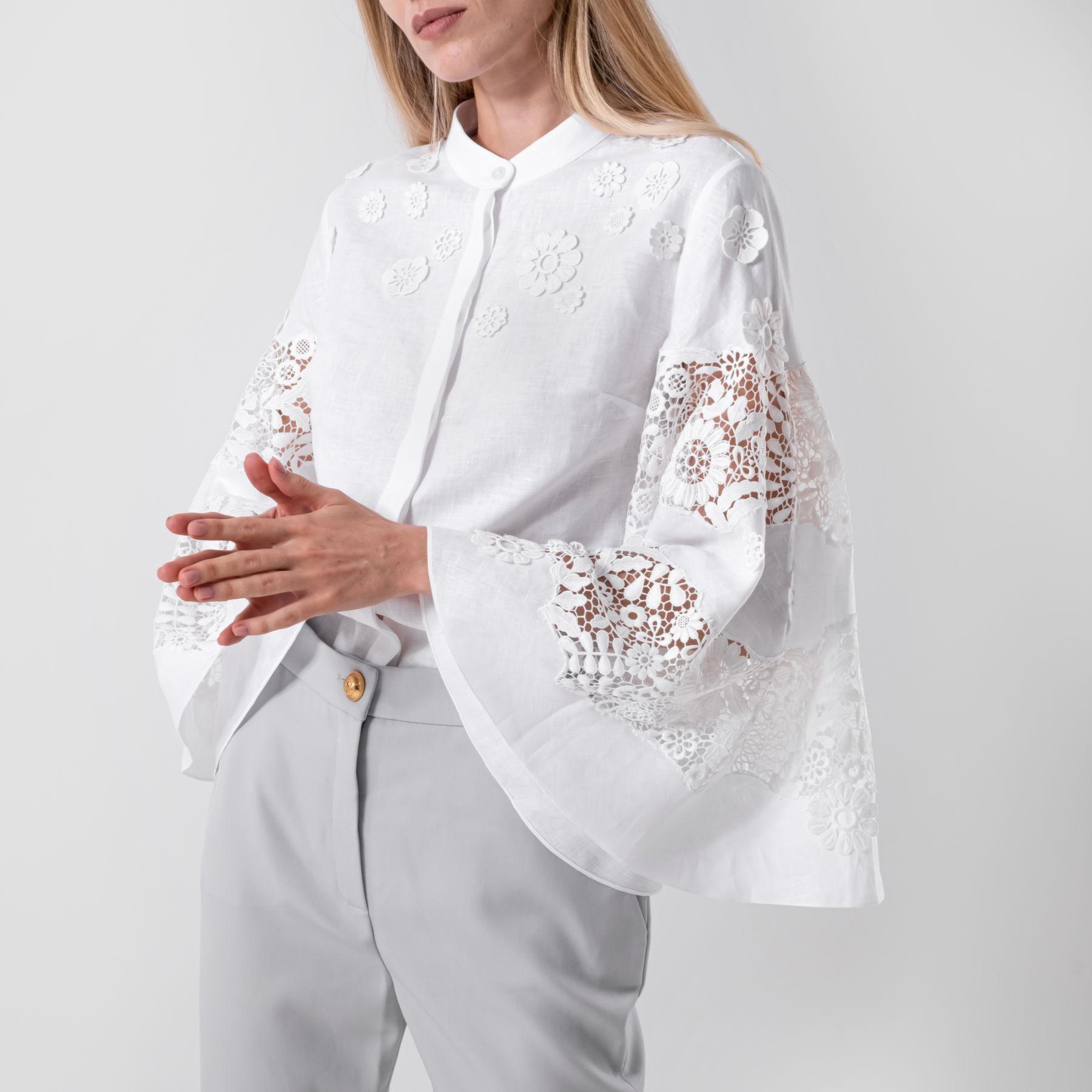 Блуза Oscar de la Renta белая