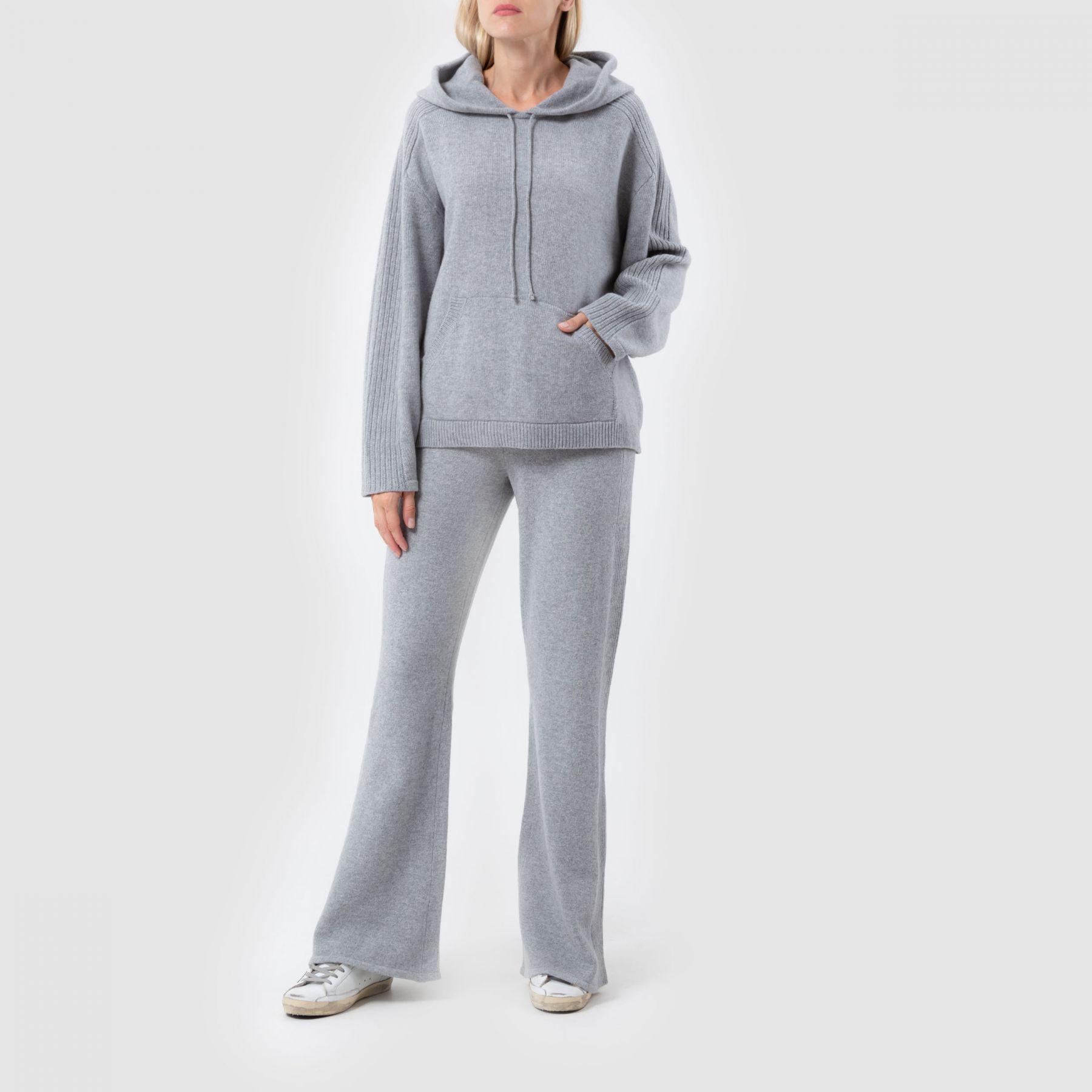 Спортивные брюки Alberta Ferretti светло-серые