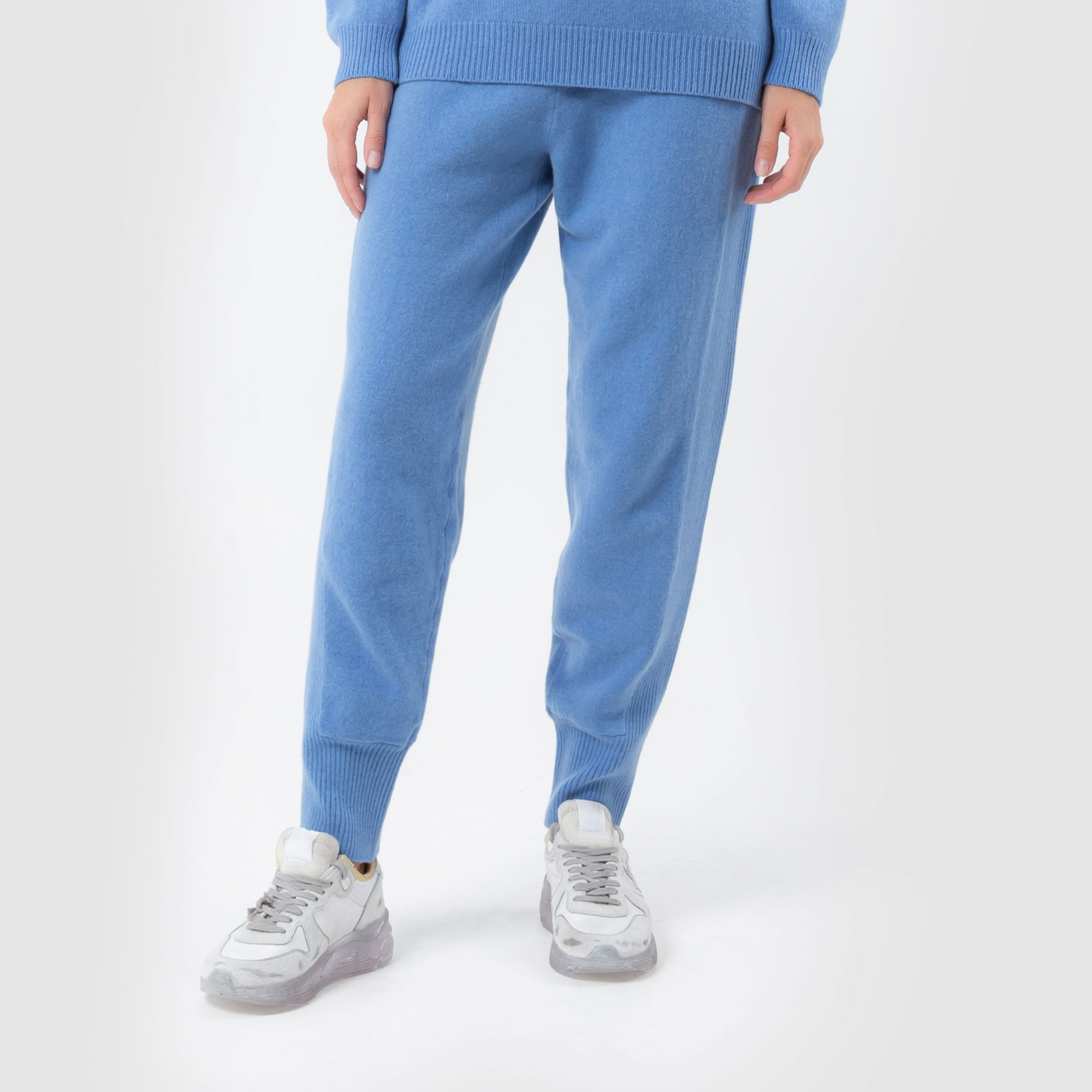 Спортивные брюки Alberta Ferretti голубые