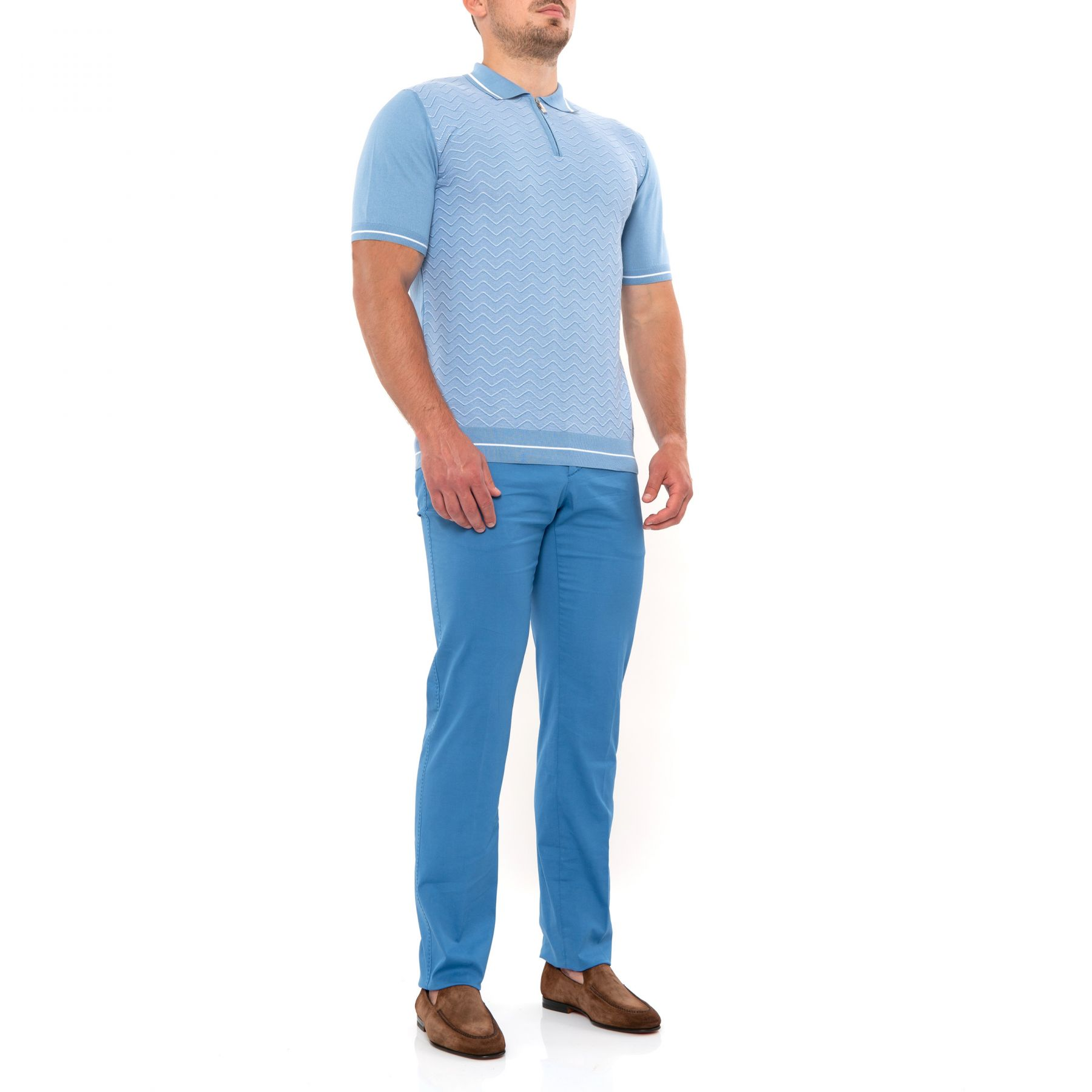 Брюки Marco Pescarolo голубые