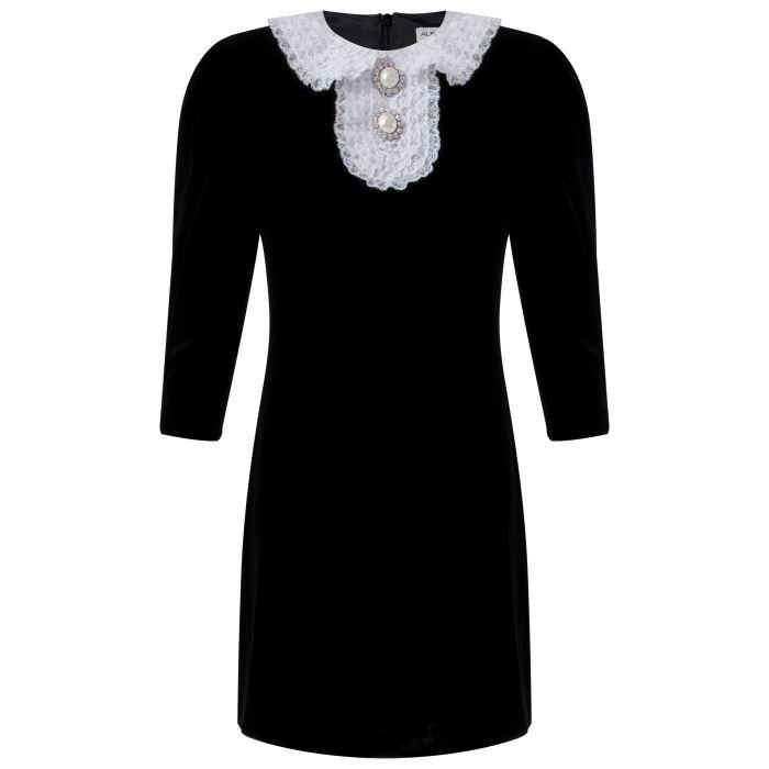 Платье Alessandra Rich черное