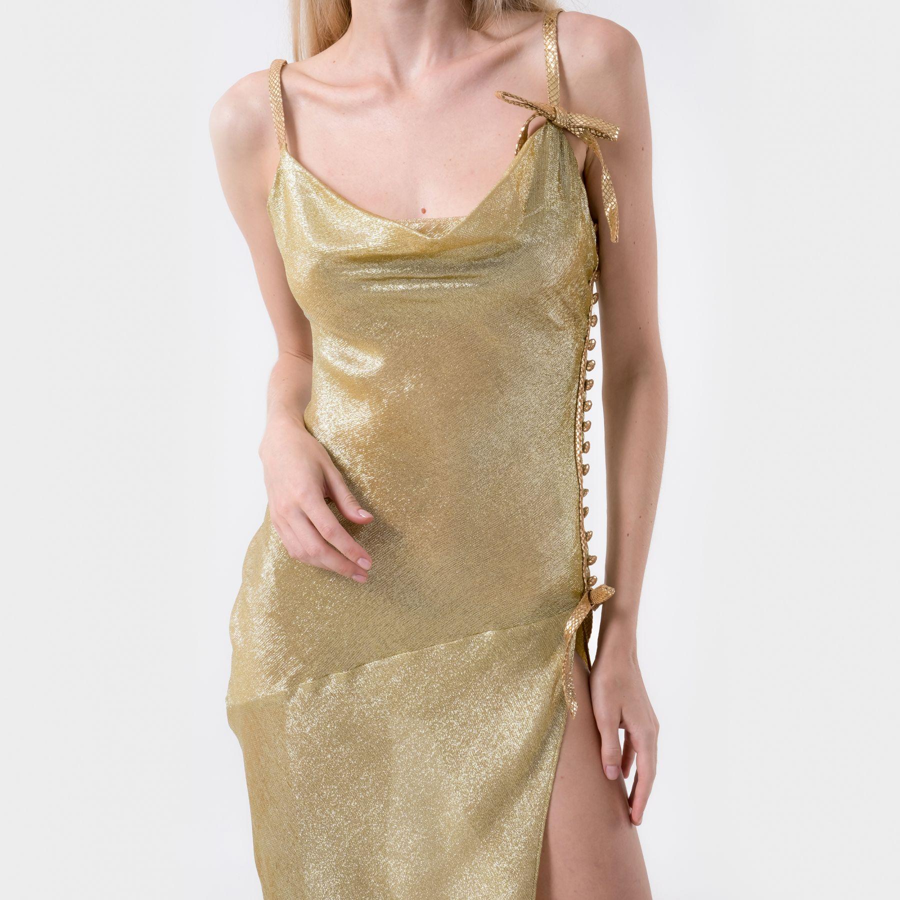 Платье длинное Alessandra Rich золотое