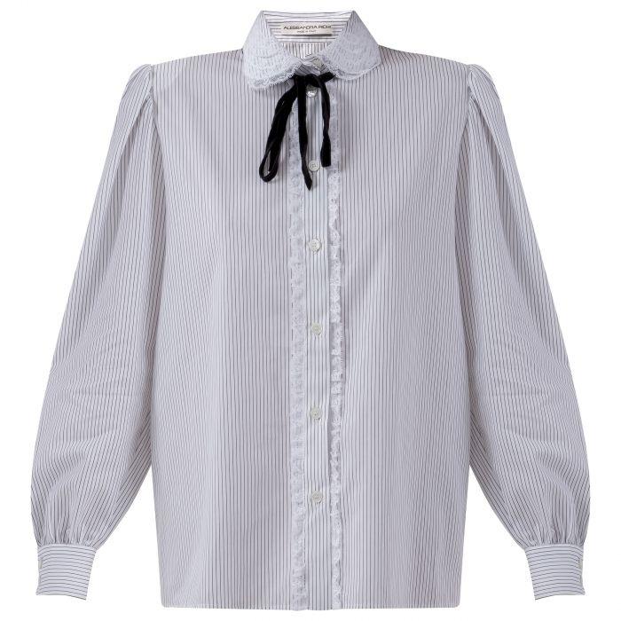 Рубашка с длинными рукавами Alessandra Rich белая