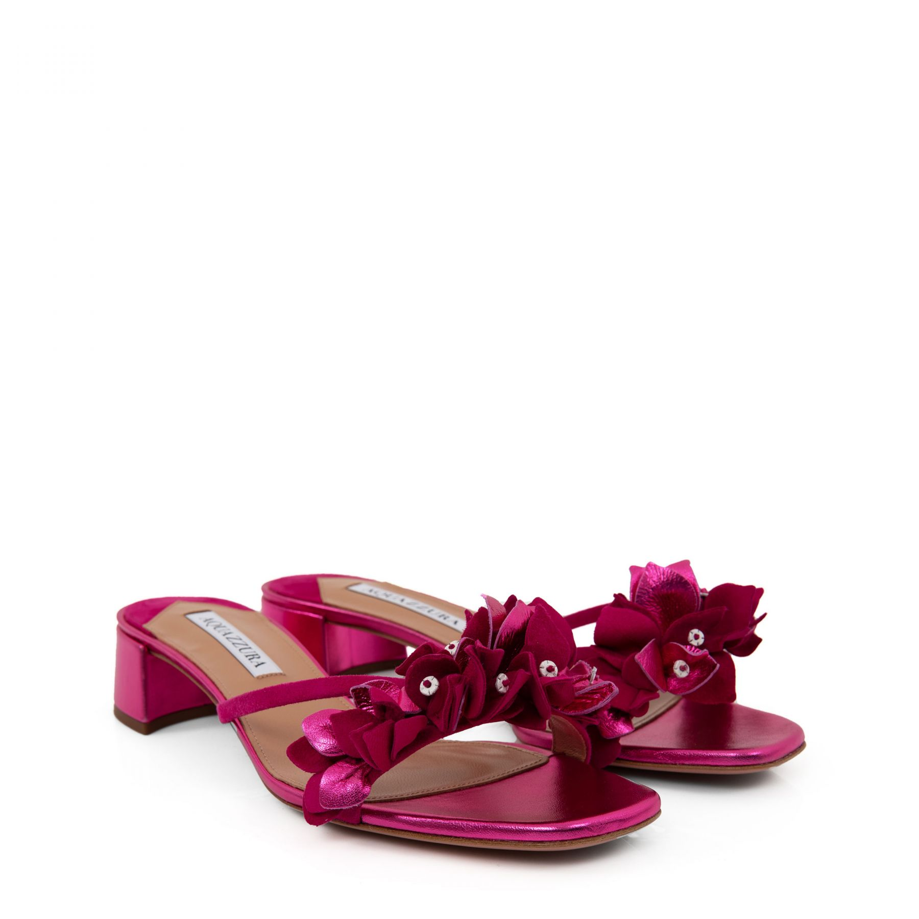 Мюли AQUAZZURA Bougainvillea розовые