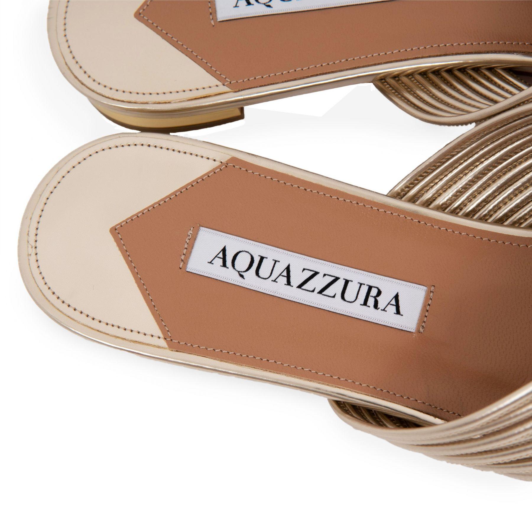Шлепанцы AQUAZZURA Perugia золотые