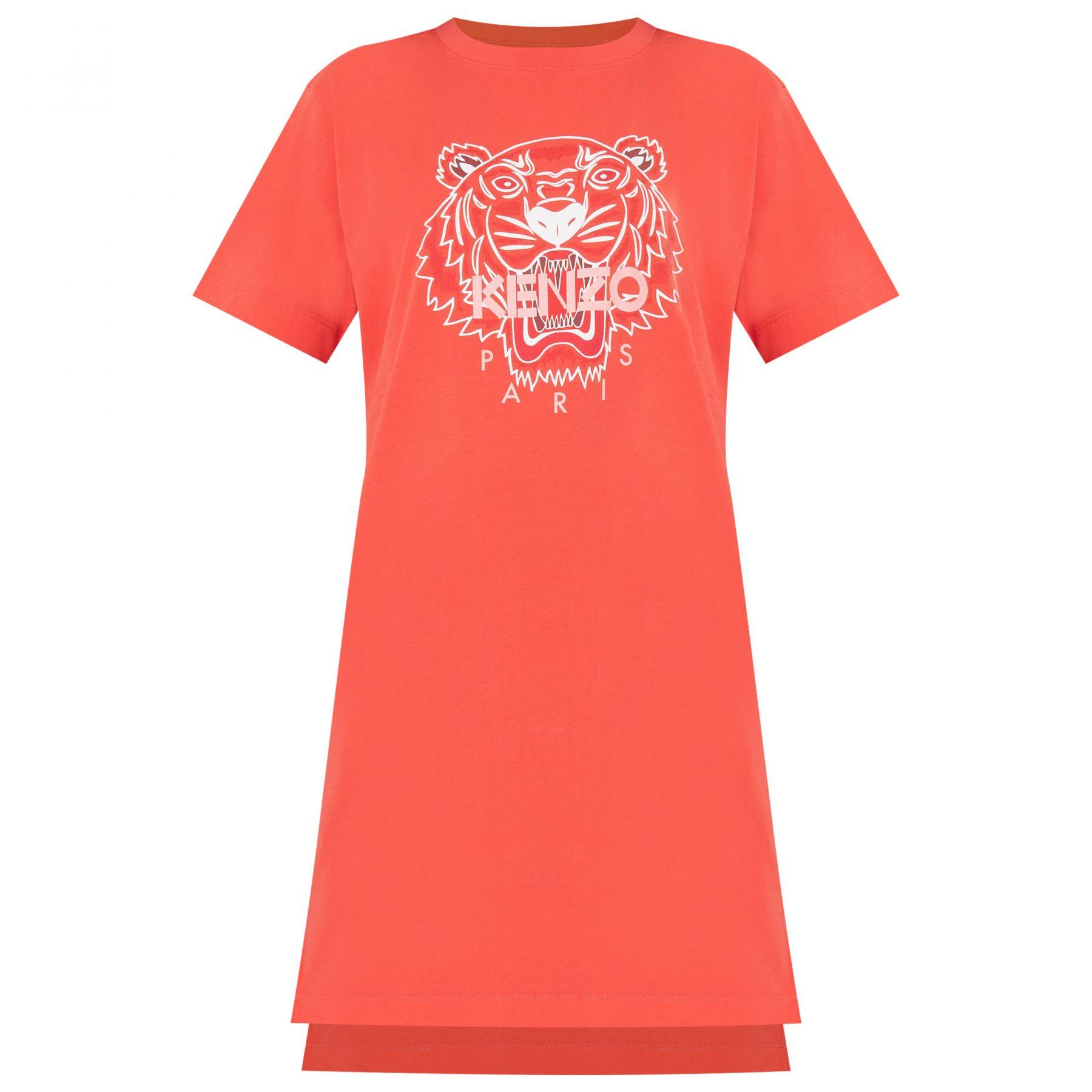 Платье Kenzo оранжевое