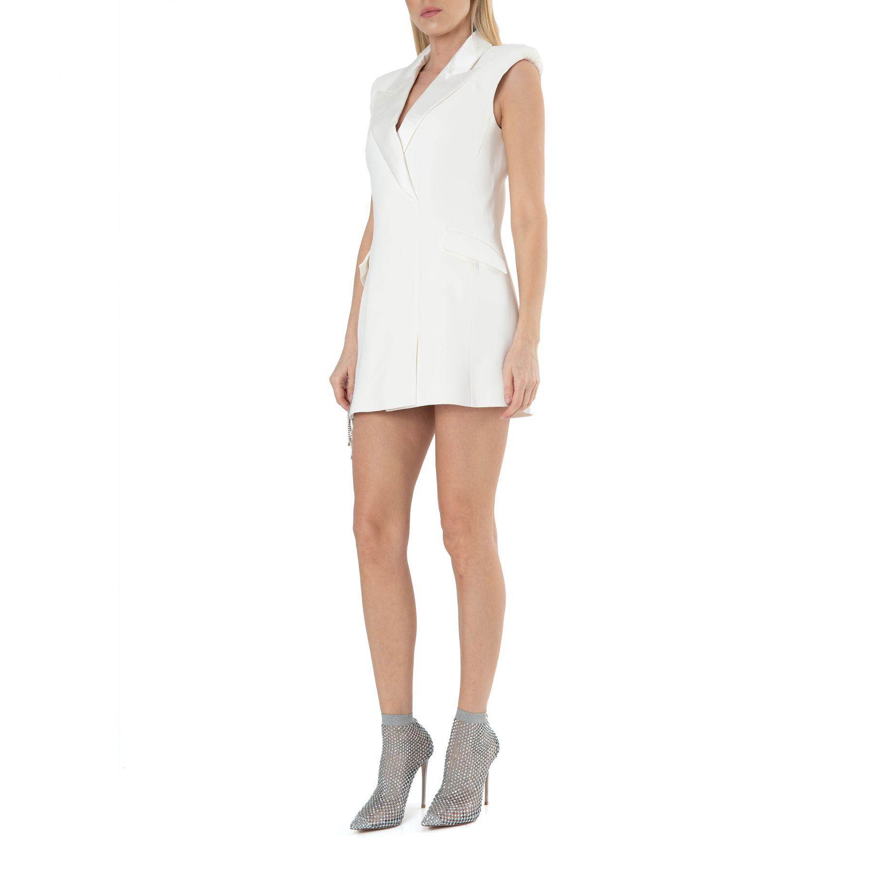 Платье David Koma белое