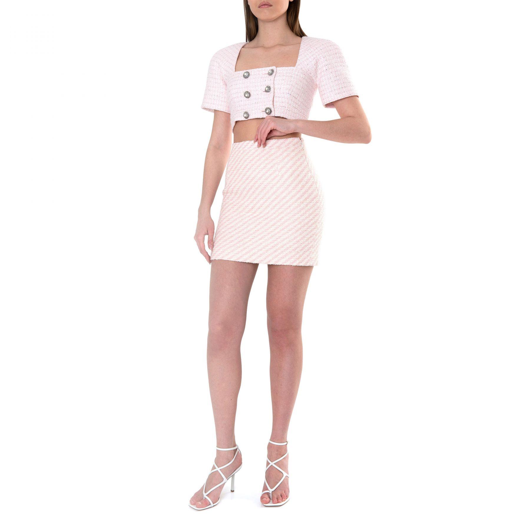 Топ Alessandra Rich розово-белый