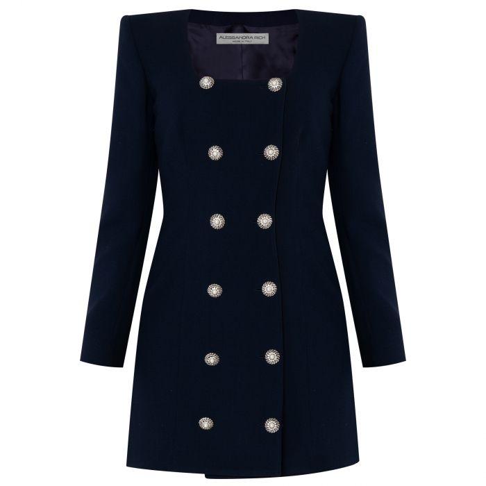 Платье Alessandra Rich темно-синее