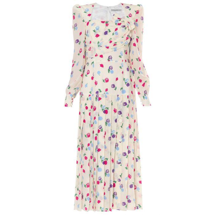 Платье Alessandra Rich белое