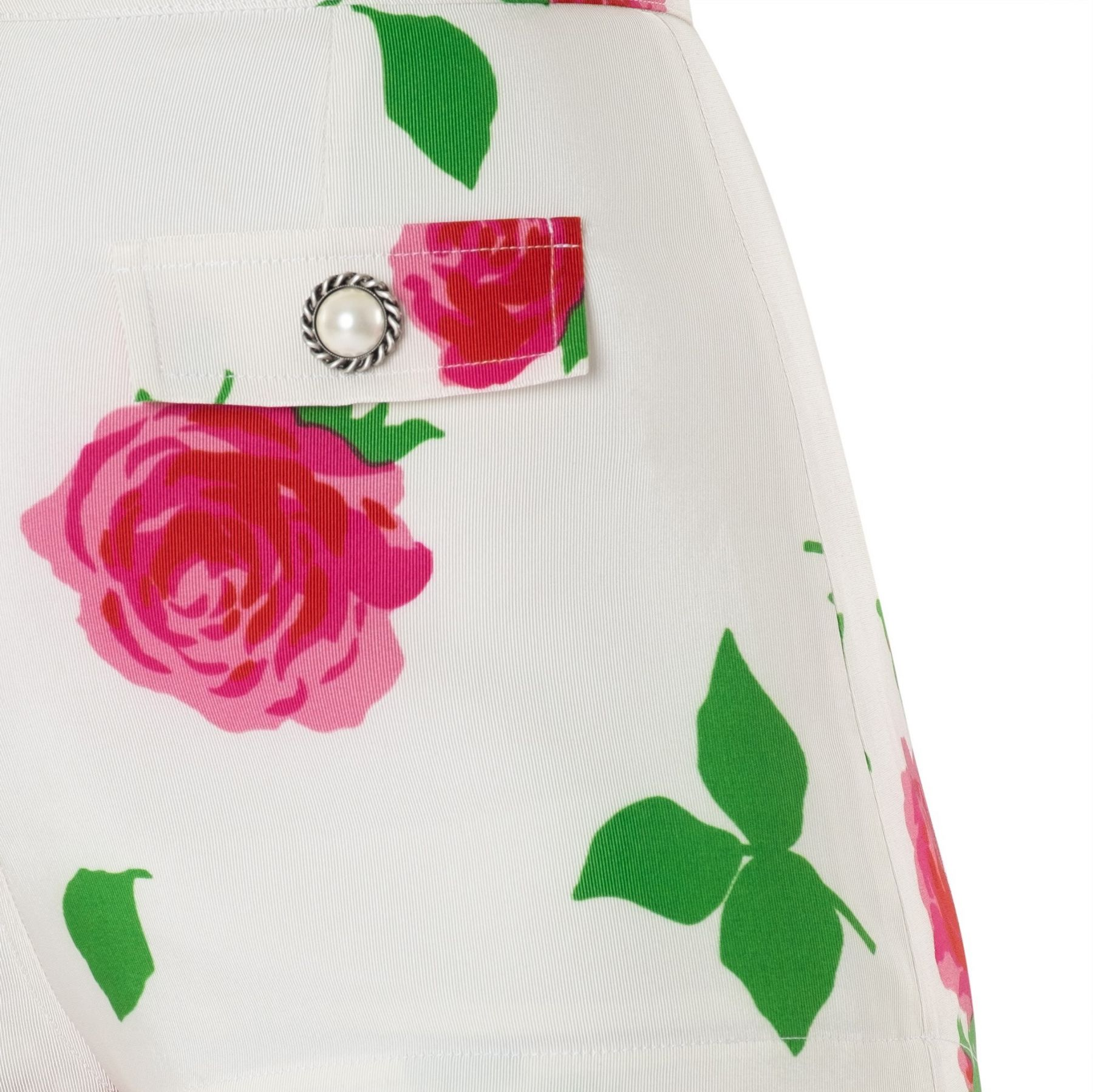 Шорты Alessandra Rich бело-розовые