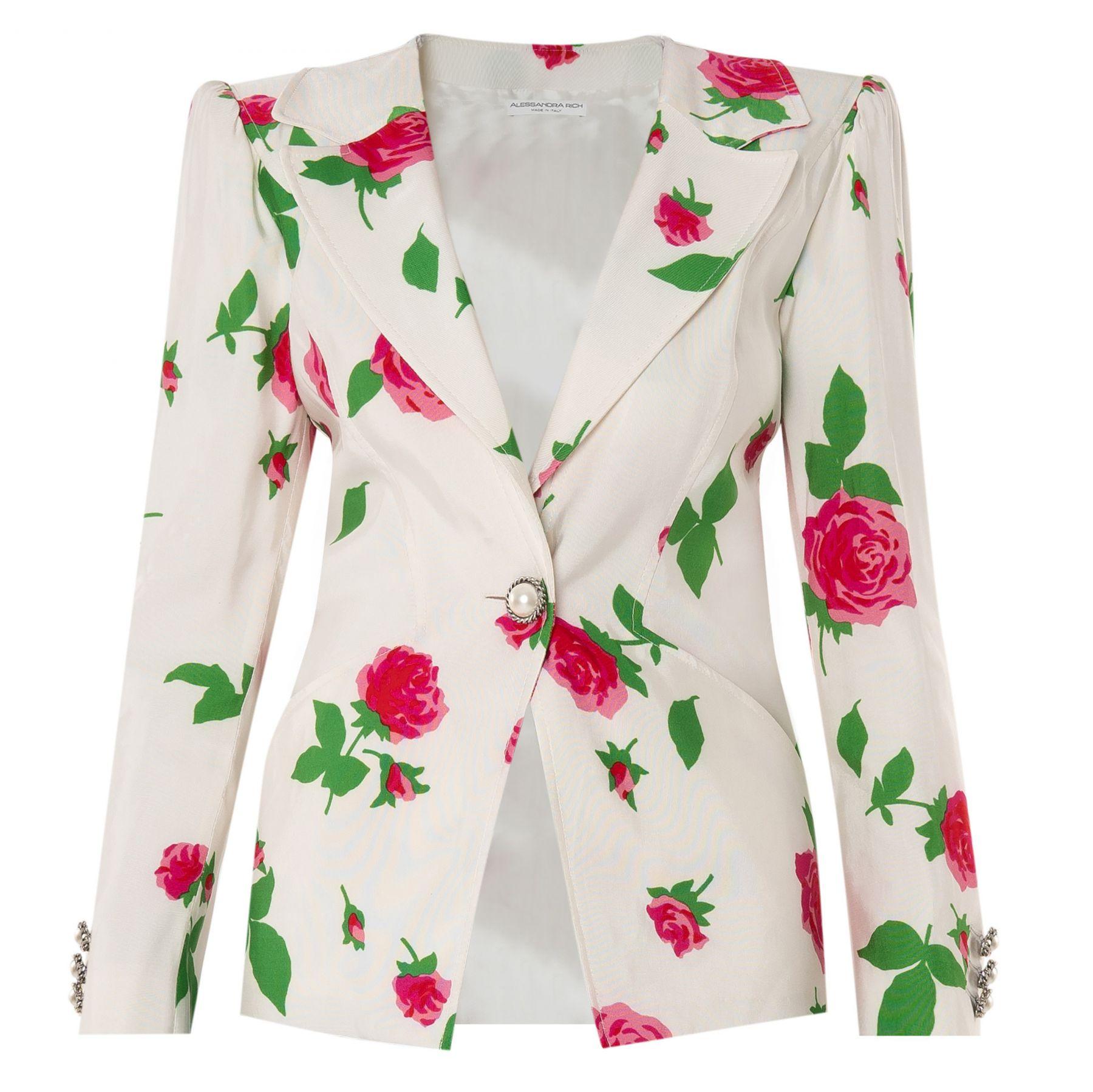Жакет  Alessandra Rich бело-розовый