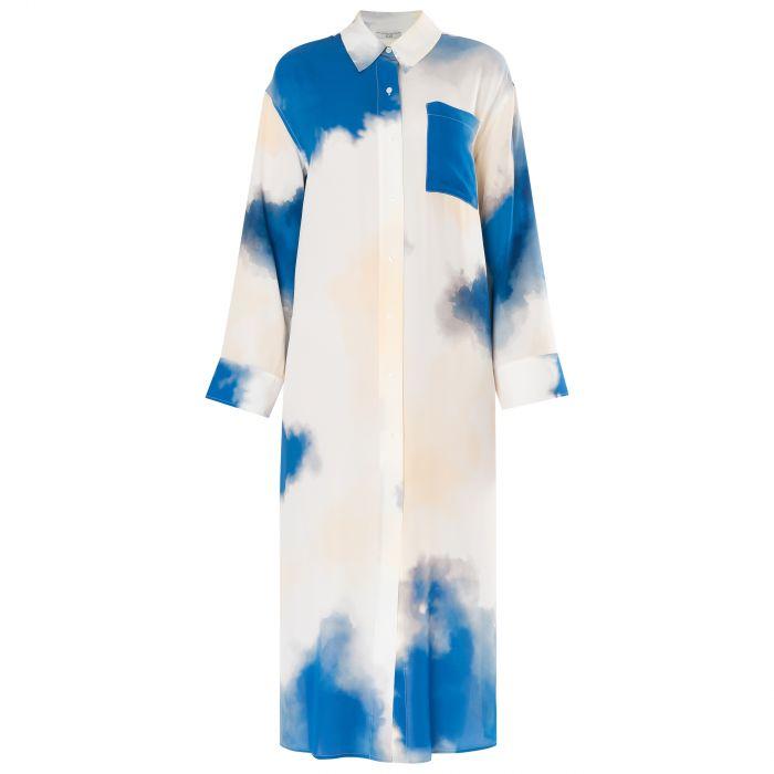 Платье длинное CO разноцветное