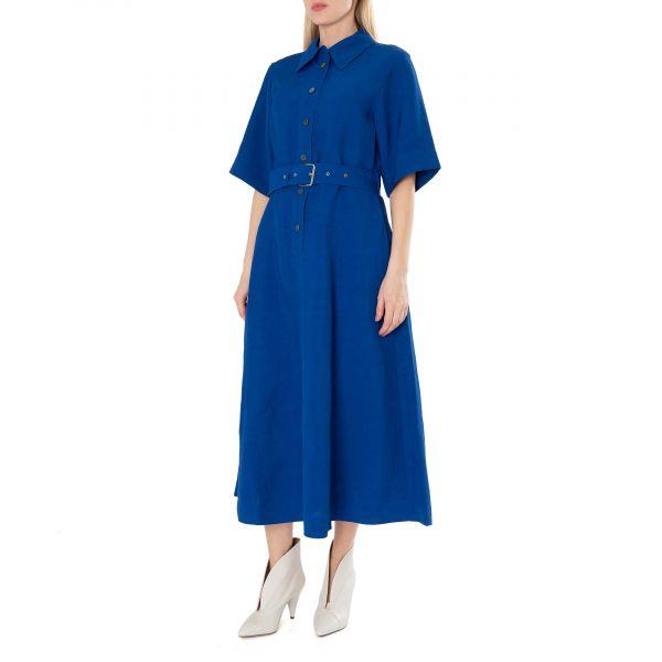 Платье длинное CO синее