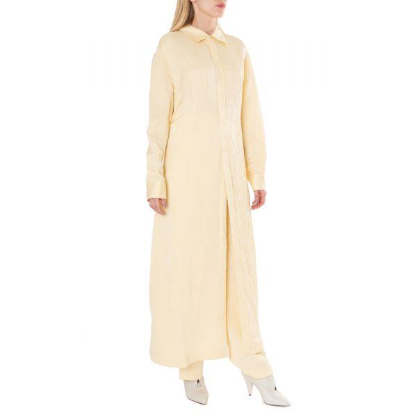 Платье длинное CO кремовое