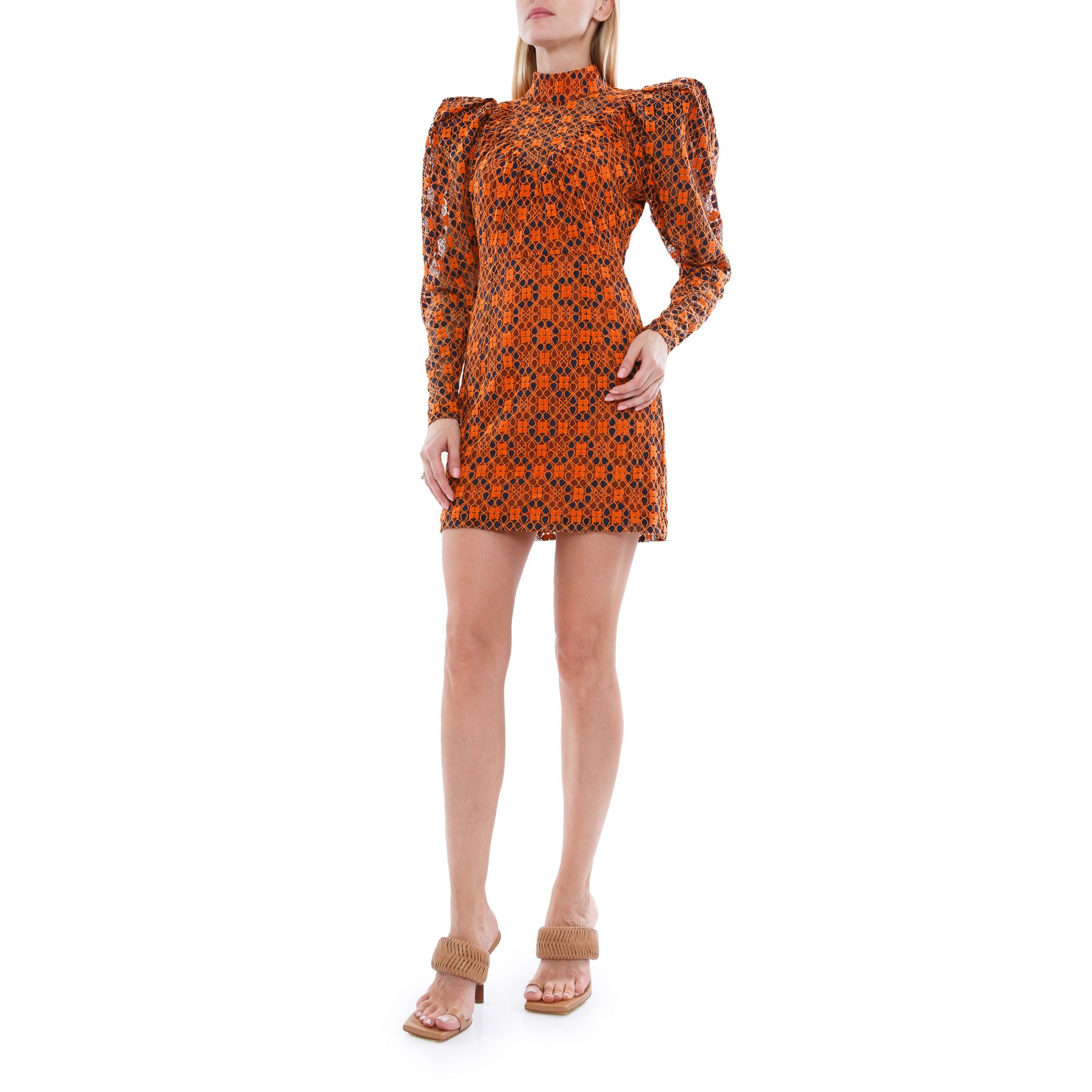 Платье Rotate оранжевое