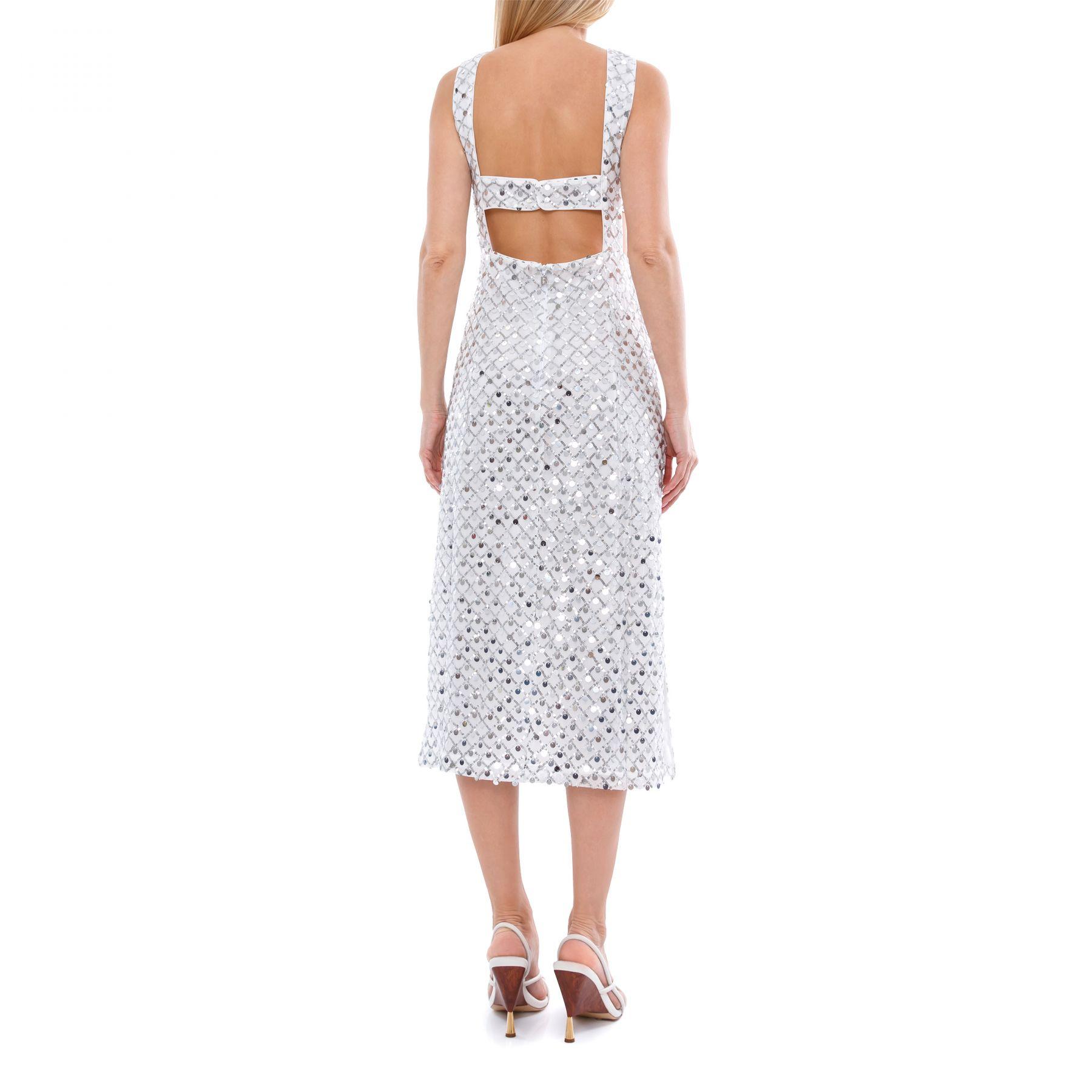 Платье Rotate Toriana серебряное