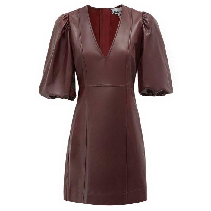 Платье Ganni бордо