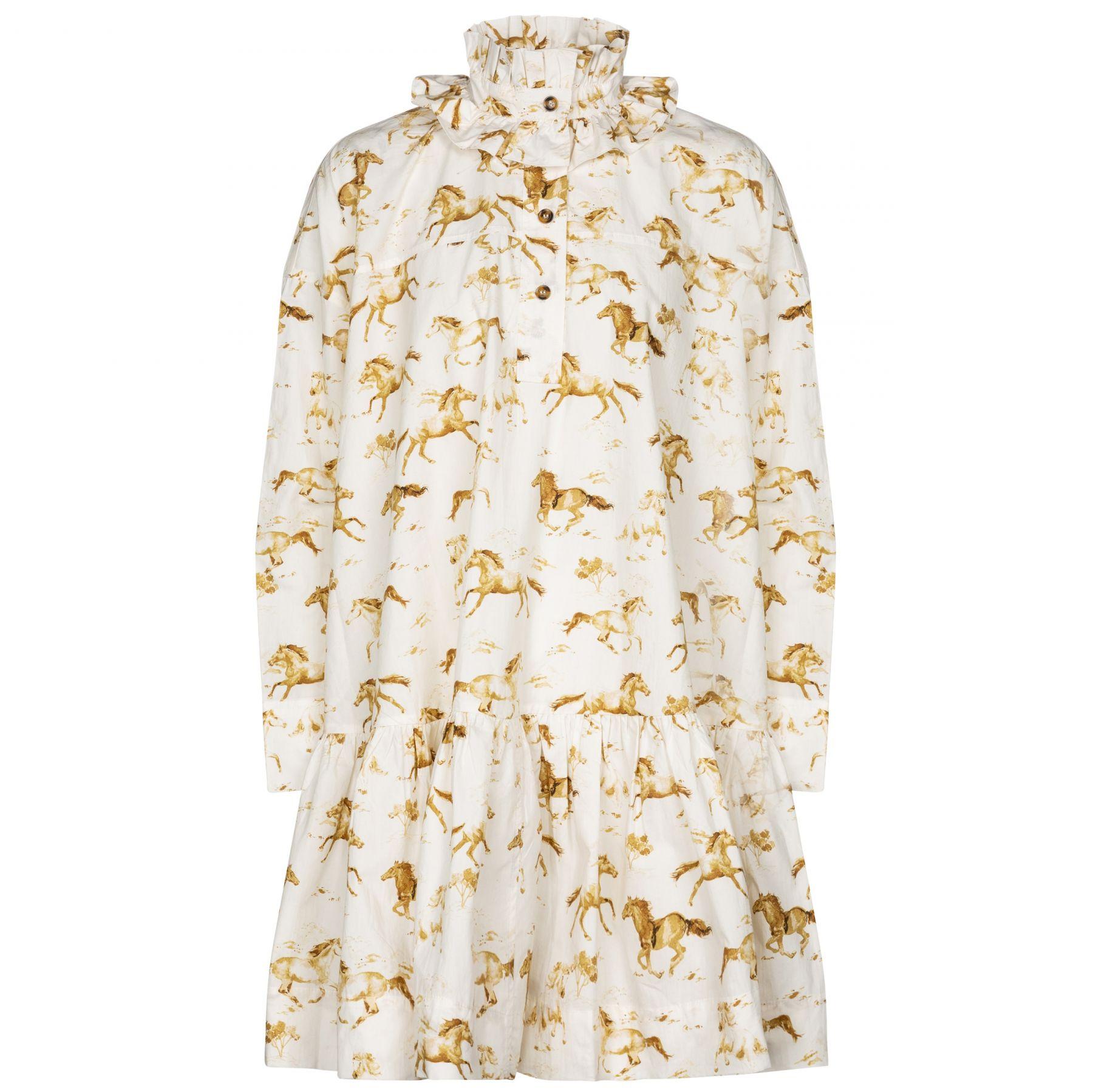 Платье Ganni белое
