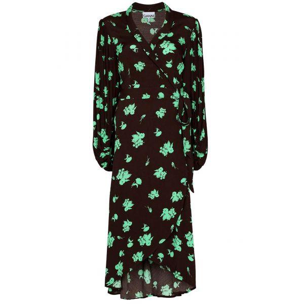 Платье Ganni темно-коричневое