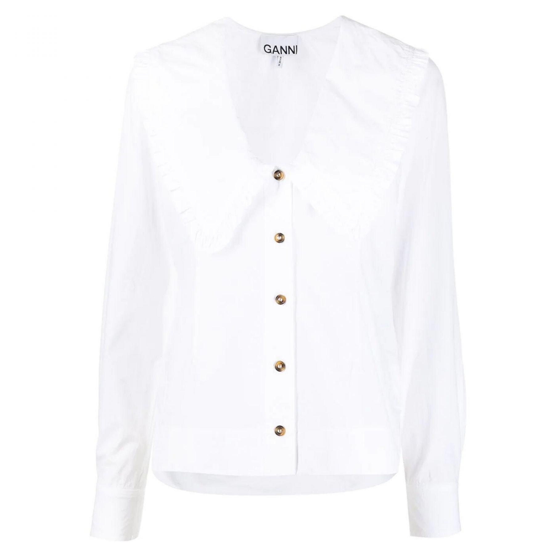 Блуза Ganni белая