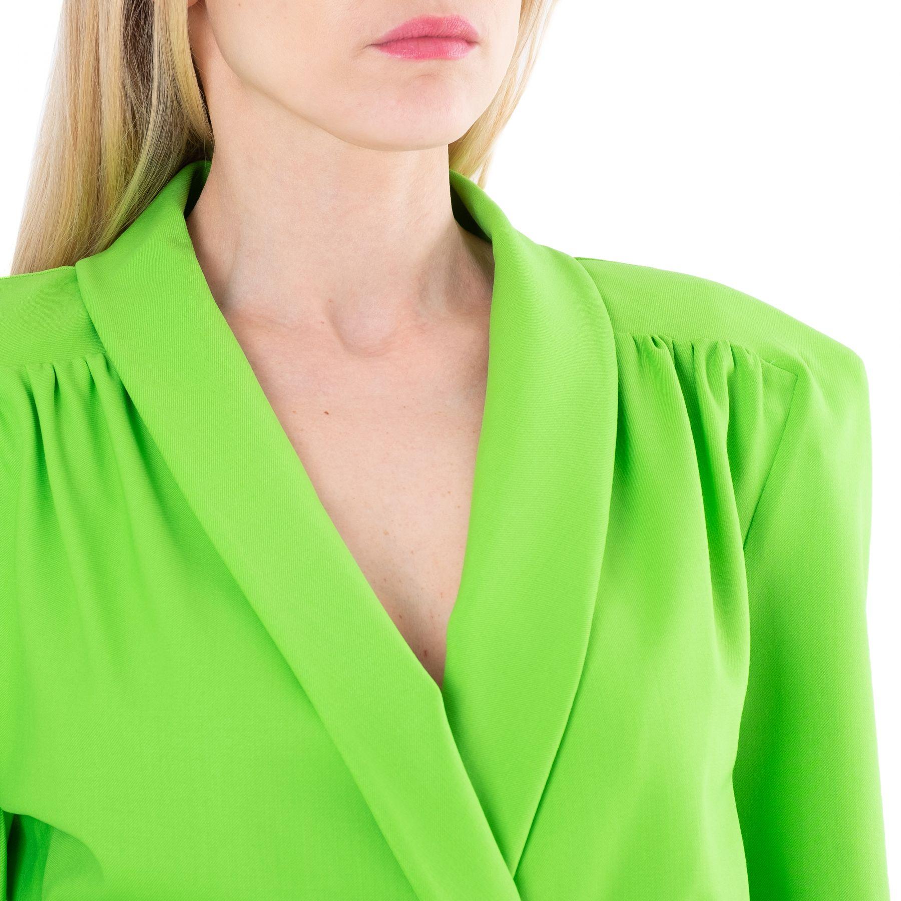 Платье The Attico зеленое