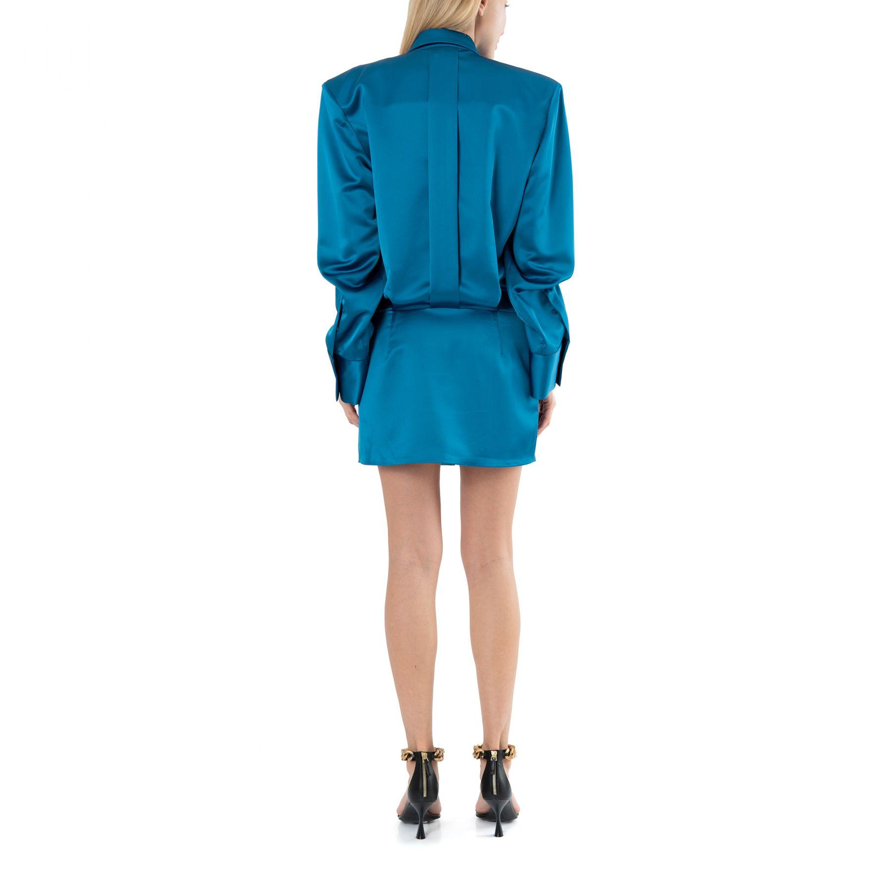 Платье The Attico MARGOT голубое